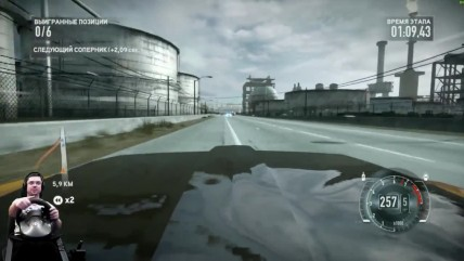 Батл на низине Ford Mustang Boss 302 Need for Speed: The Run на руле Fanatec Porsche GT2