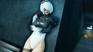 Моддеры добавили в Skyrim Special Edition качественную модель 2B