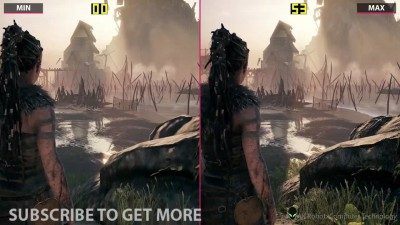 Hellblade: Senua's Sacrifice - PC Min vs Max Сравнение графики