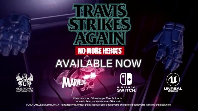 Travis Strikes Again: No More Heroes - Трейлер выхода игры