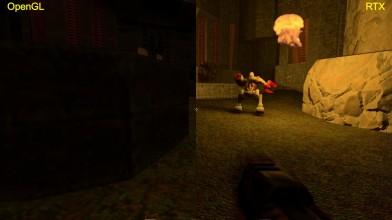 Quake 2 RTX с аддоном Ground Zero - сравнения графики OpenGL|RTX на базе GTX 1080