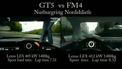 "GT5 vs Forza 4 - ""Nurburgring"" HD"