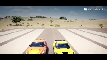 Forza Horizon 3: 2017 Nissan GT-R vs Chevrolet Corvette Z06 Drag Race