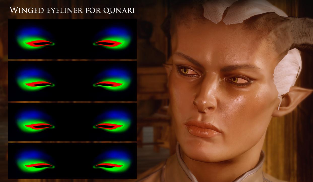 Цвет глаз для dragon age