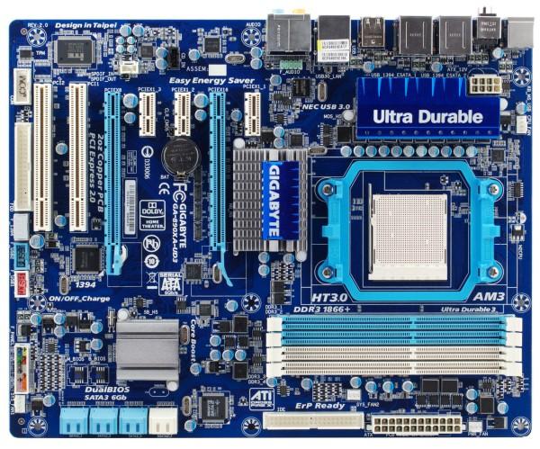 GigaByte GA-890XA-UD3 Socket AM3, AMD 790X, 4*DDR3, 2*PCI-E, ATA, SATA + SA