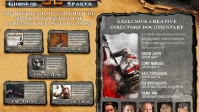 GoW Ghost of Sparta: дата выхода, бонусы по предзаказу, новый бандл PSP