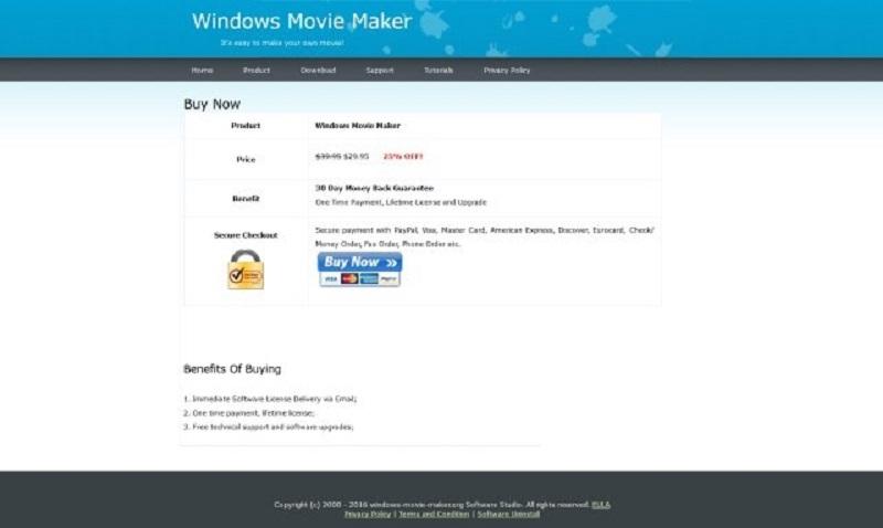 Винтернете появился поддельный Windows Movie Maker
