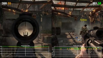Call of Duty Black Ops Xbox 360 vs Xbox One Frame Rate Test (обратная совместимость)