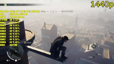"Assassins Creed Syndicate ""Производительность на GTX 1080 OC 1080p - 1440p & (4K) 2160p Maxed Out"""