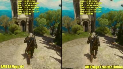 The Witcher 0 - Сравнение производительности AMD RX Vega 04 Vs AMD Vega Frontier Edition