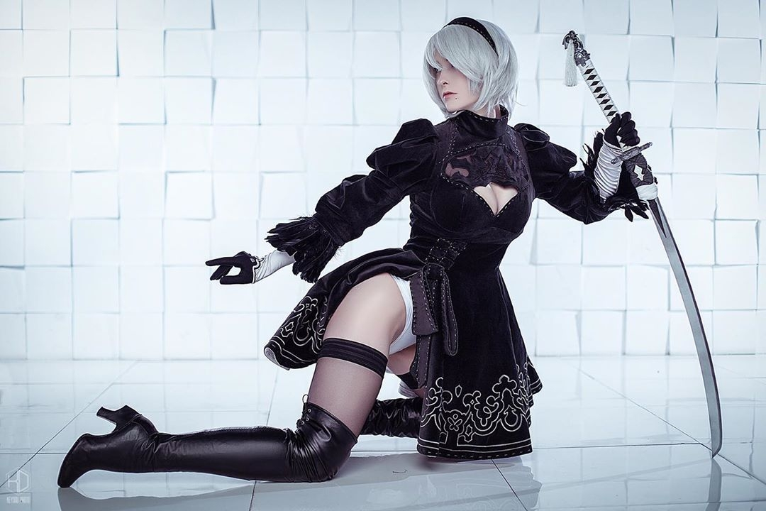 Anime Cosplay From Automata Pinkfineart 1