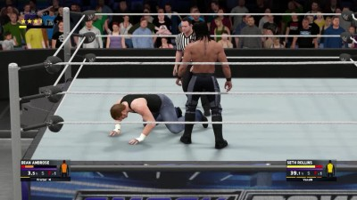 2K Tonight FIGHT - Seth Rollins VS Dean Ambrose