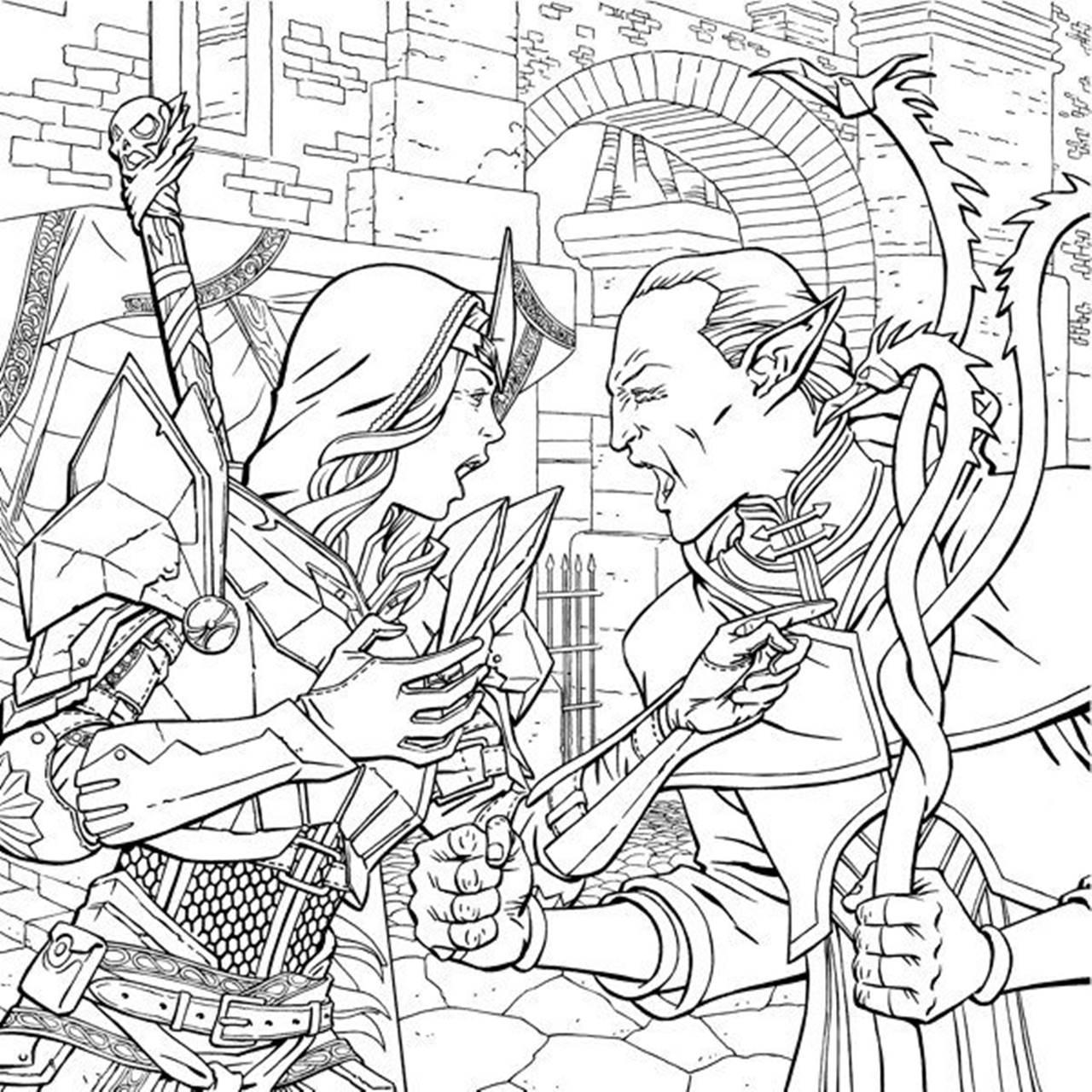 Dragon Age Inquisition раскраска для взрослых посты