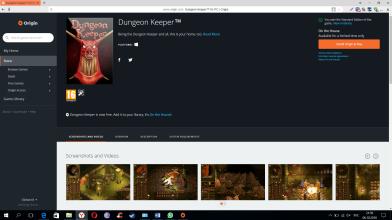 Dungeon Keeper бесплатно в Origin