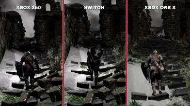 Dark Souls Сравнение графики- Nintendo Switch vs. Xbox 360 vs. Xbox One X