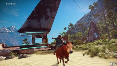 Just Cause 3 Bull Riding Easter Egg Location